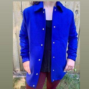 Tommy Hilfiger NWOT blue button up cinch coat